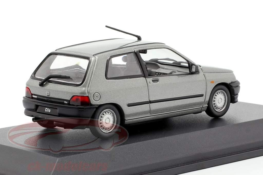 Renault Clio year 1990 grey metallic 1:43 Norev