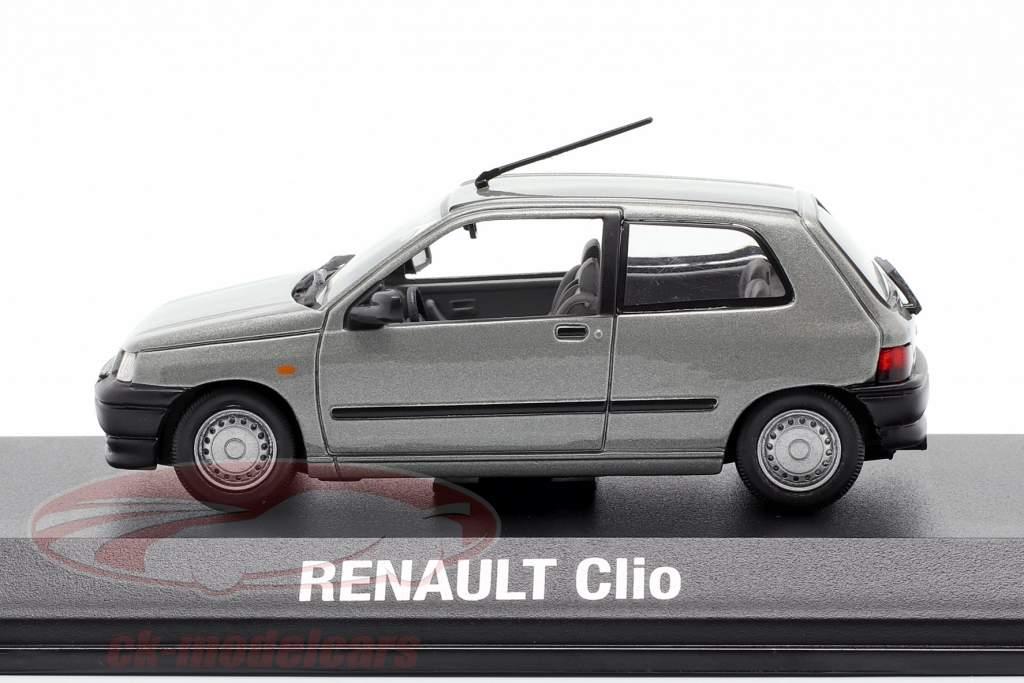 Renault Clio Opførselsår 1990 grå metallisk 1:43 Norev