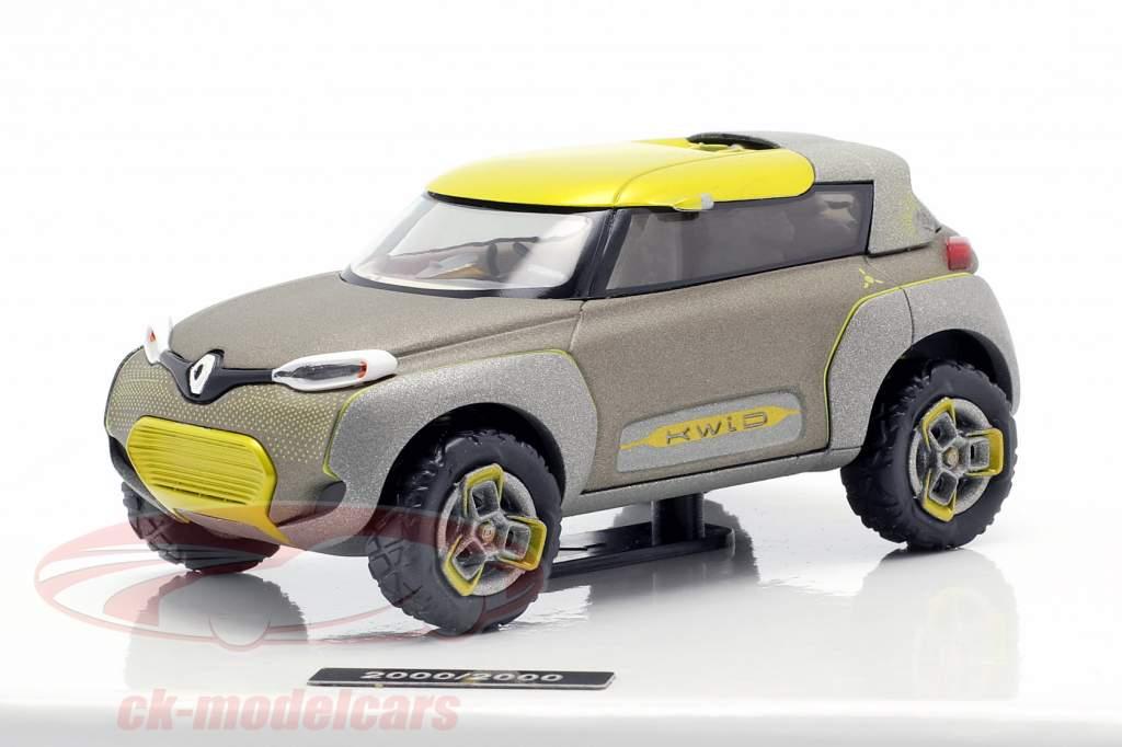 Renault Kwid Concept Car 2015 grijs metalen / geel 1:43 Norev
