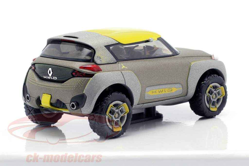 Renault Kwid Concept Car 2015 grau metallic / gelb 1:43 Norev