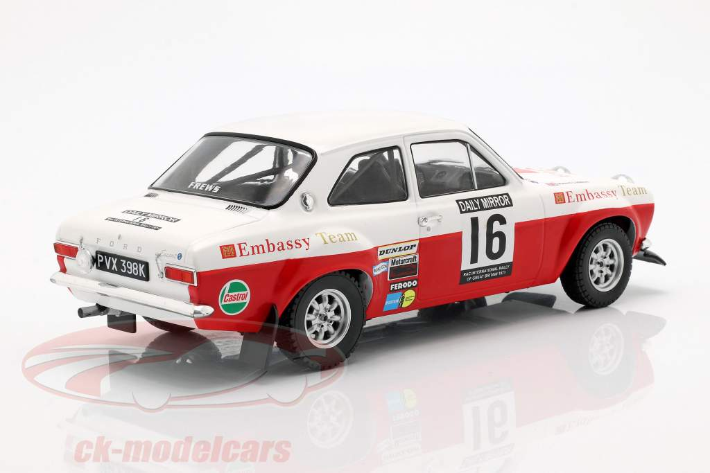 Ford Escort RS 1600 Mk1 #16 5e RAC verzameling 1971 Mäkinen, Liddon 1:18 Ixo