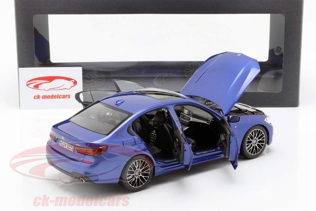 BMW 3 Series Limousine (G20) Opførselsår 2019 portimao blå 1:18 Norev