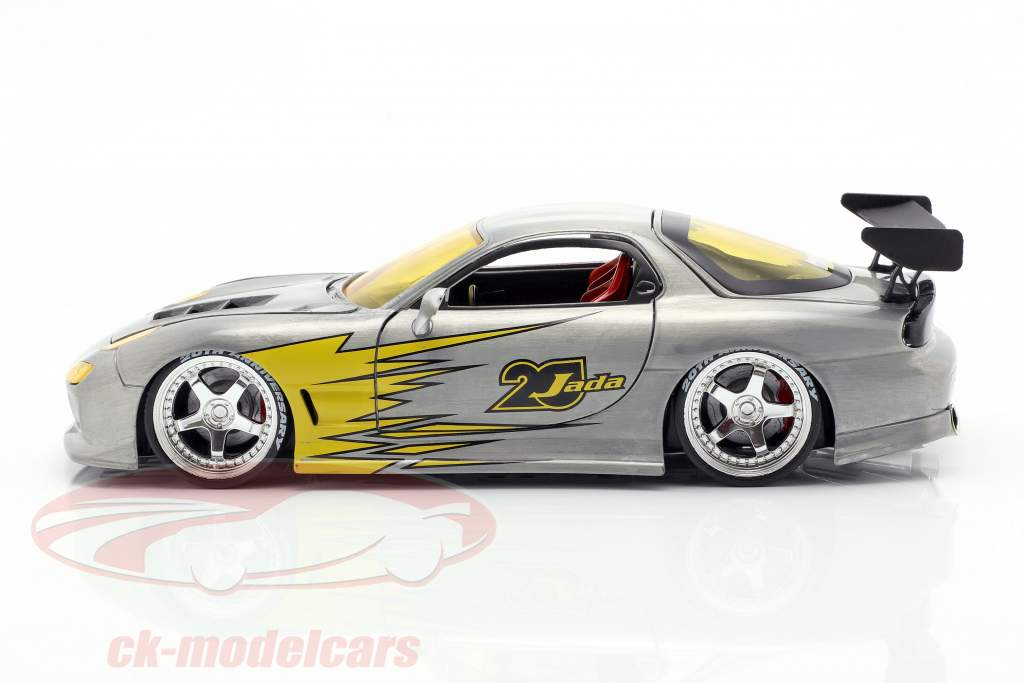 Mazda RX-7 année de construction 1993 argent / jaune 1:24 Jada Toys