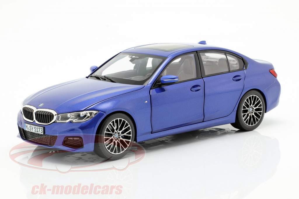 BMW 3 Series Limousine (G20) año de construcción 2019 portimao azul 1:18 Norev