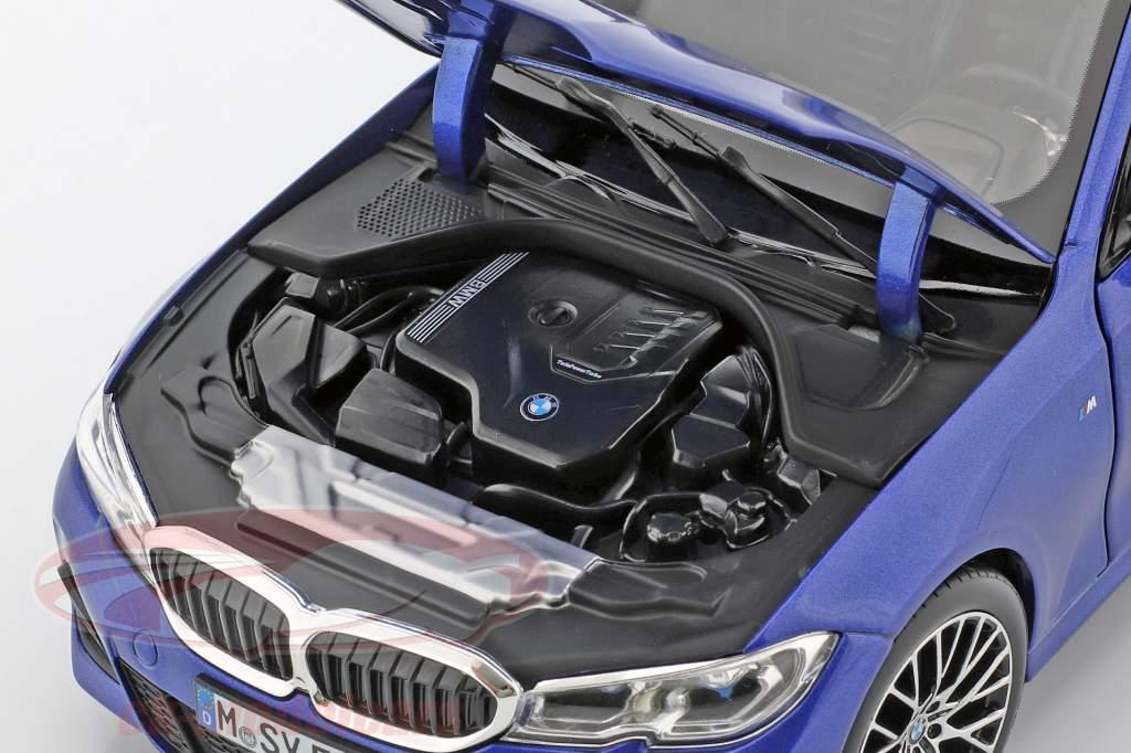 BMW 3 Series Limousine (G20) Bouwjaar 2019 portimao blauw 1:18 Norev