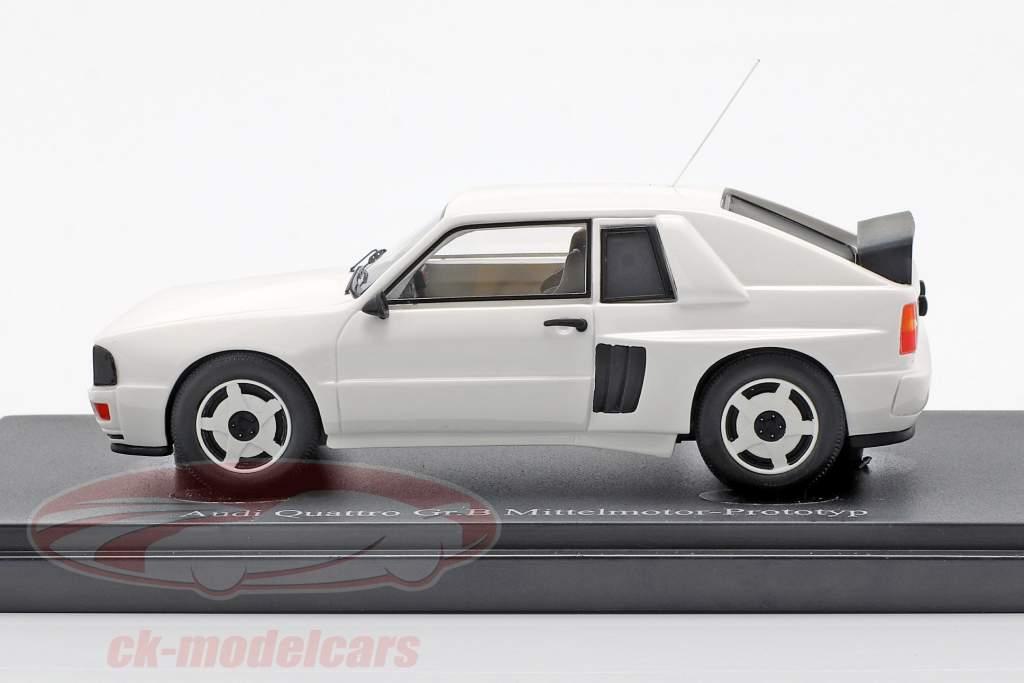 Audi Quattro Gr. B Mittelmotor-Prototyp 1985 weiß 1:43 AutoCult