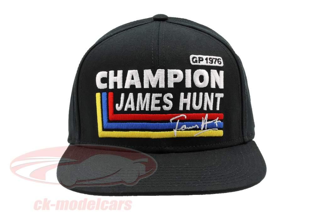 James Hunt Cap Silverstone #11 britisk GP verdensmester formel 1 1976 sort