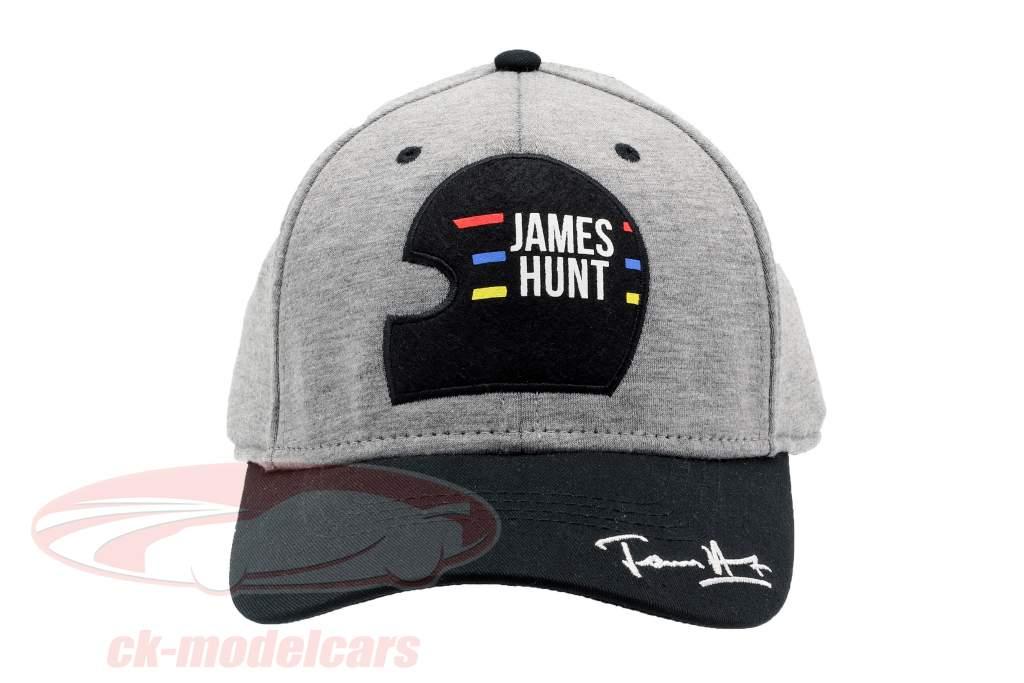 James Hunt Cap Nürburgring #11 Alemanha GP campeão do mundo fórmula 1 1976 preto / cinza