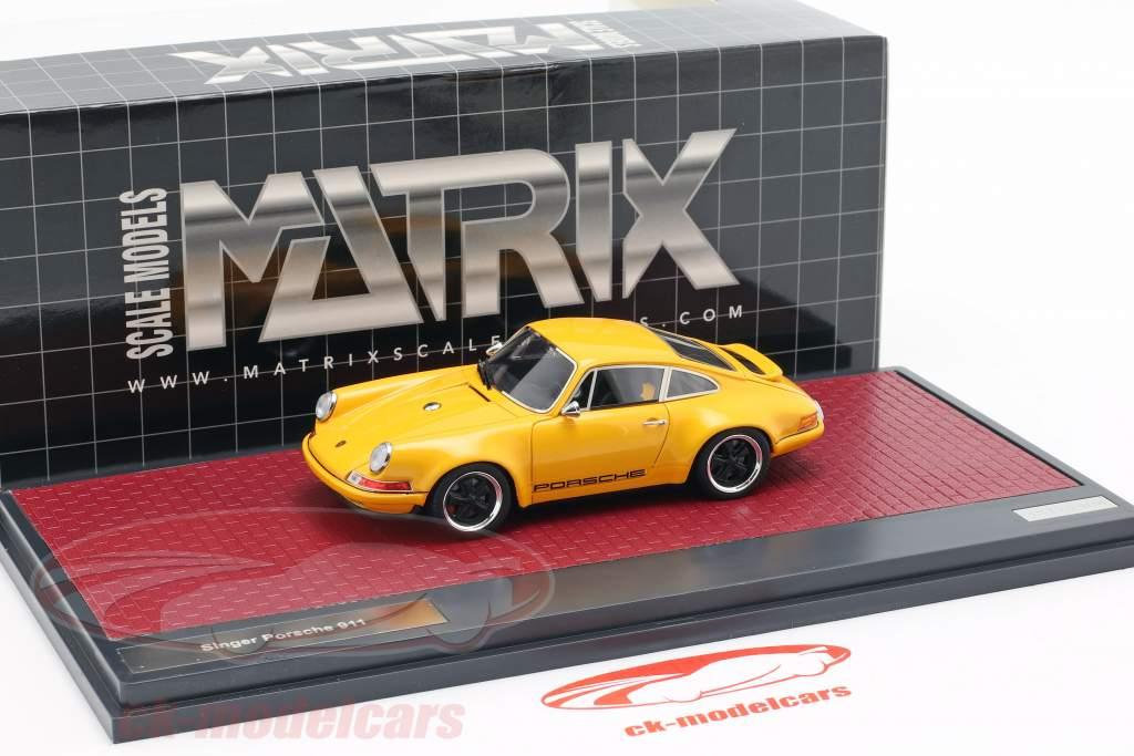 Porsche 911 Singer Design 2014 orange 1:43 Matrix