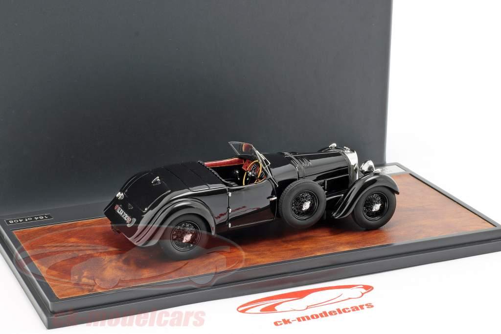 Bentley 8 litres roadster Open Top année de construction 1932 noir 1:43 Matrix