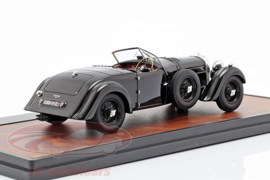 Bentley 8 liters Roadster Open Top Bouwjaar 1932 zwart 1:43 Matrix
