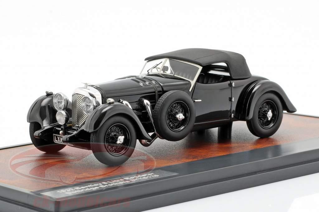 Bentley 8 litres roadster Closed Top année de construction 1932 noir 1:43 Matrix