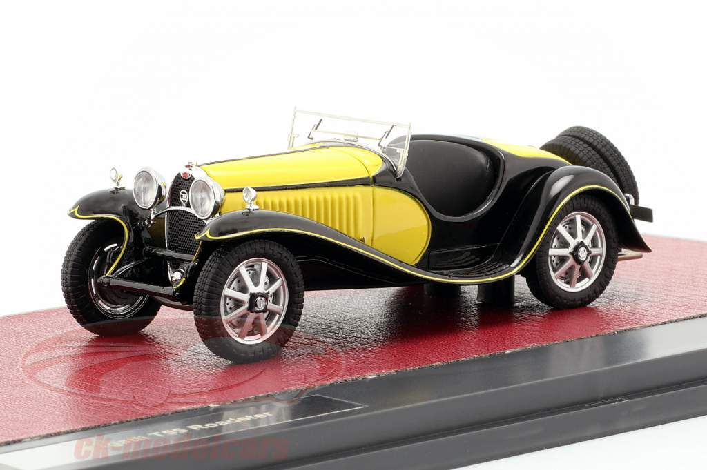 Bugatti T55 Roadster Opførselsår 1932 gul / sort 1:43 Matrix