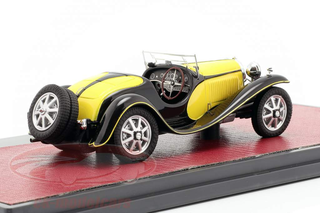 Bugatti T55 Roadster year 1932 yellow / black 1:43 Matrix