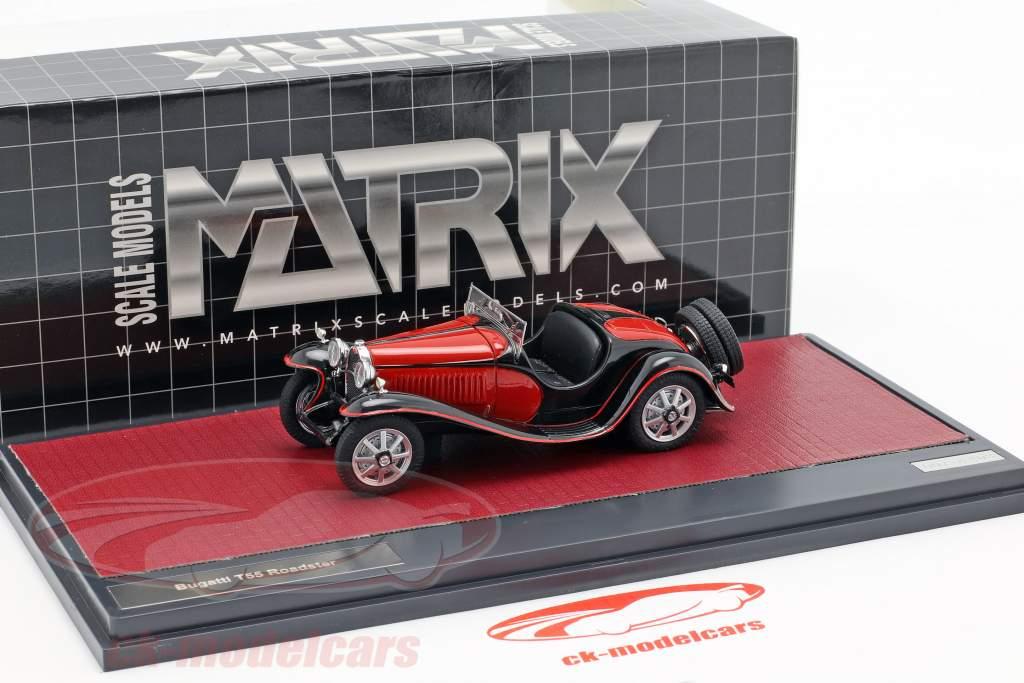 Bugatti T55 Roadster Baujahr 1932 rot / schwarz 1:43 Matrix