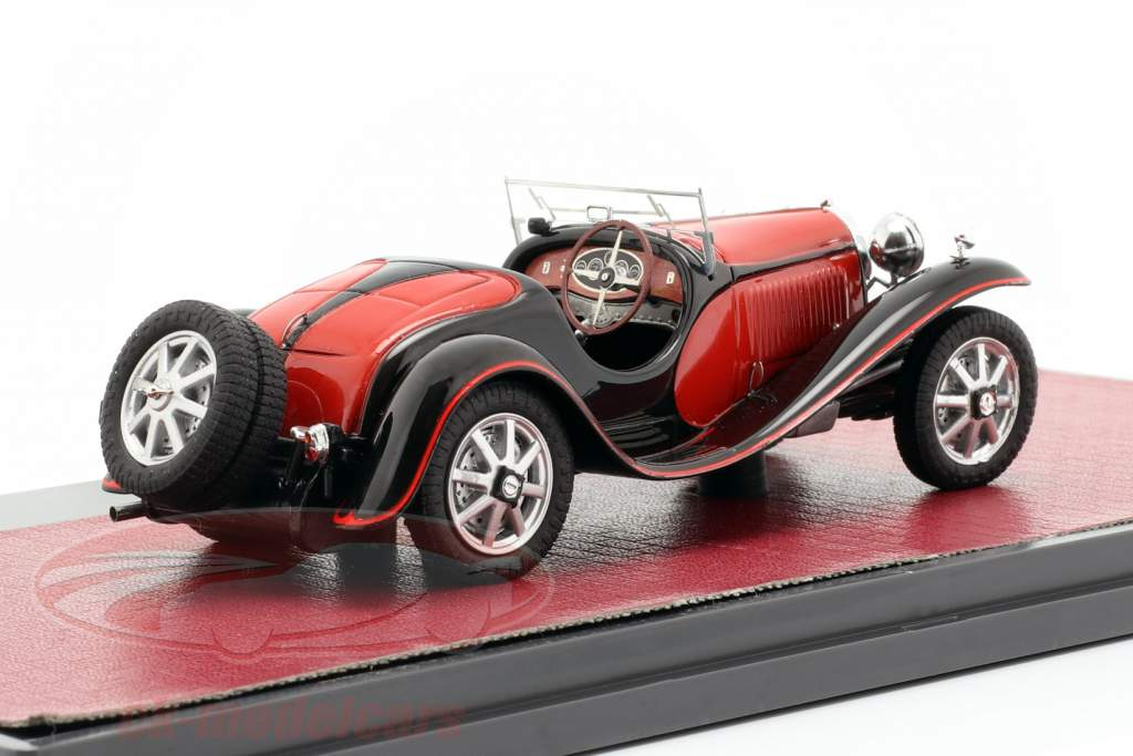 Bugatti T55 Roadster ano de construção 1932 vermelho / preto 1:43 Matrix