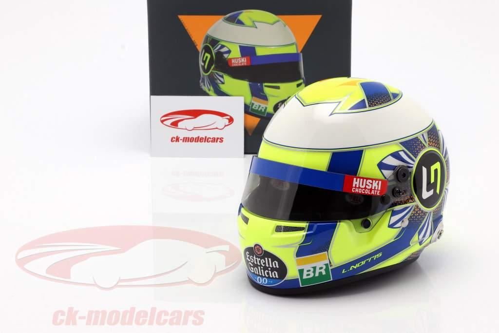 Lando Norris McLaren MCL34 #4 formule 1 2019 casque 1:2 Bell