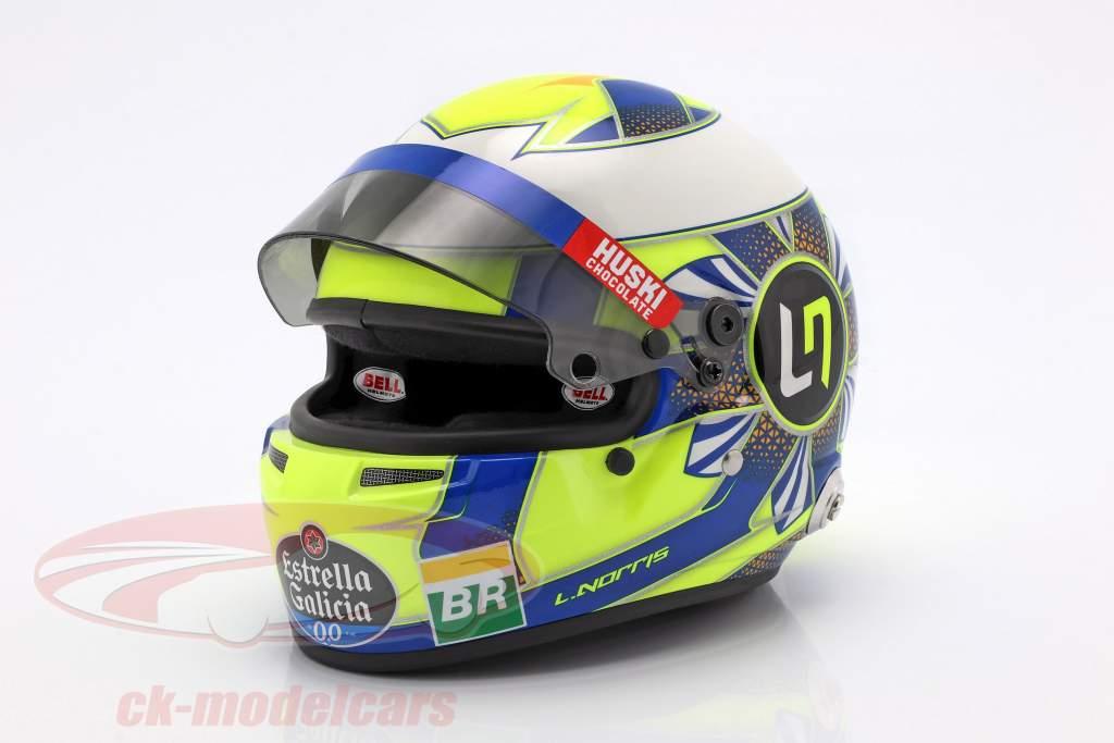 Lando Norris McLaren MCL34 #4 formula 1 2019 casco 1:2 Bell
