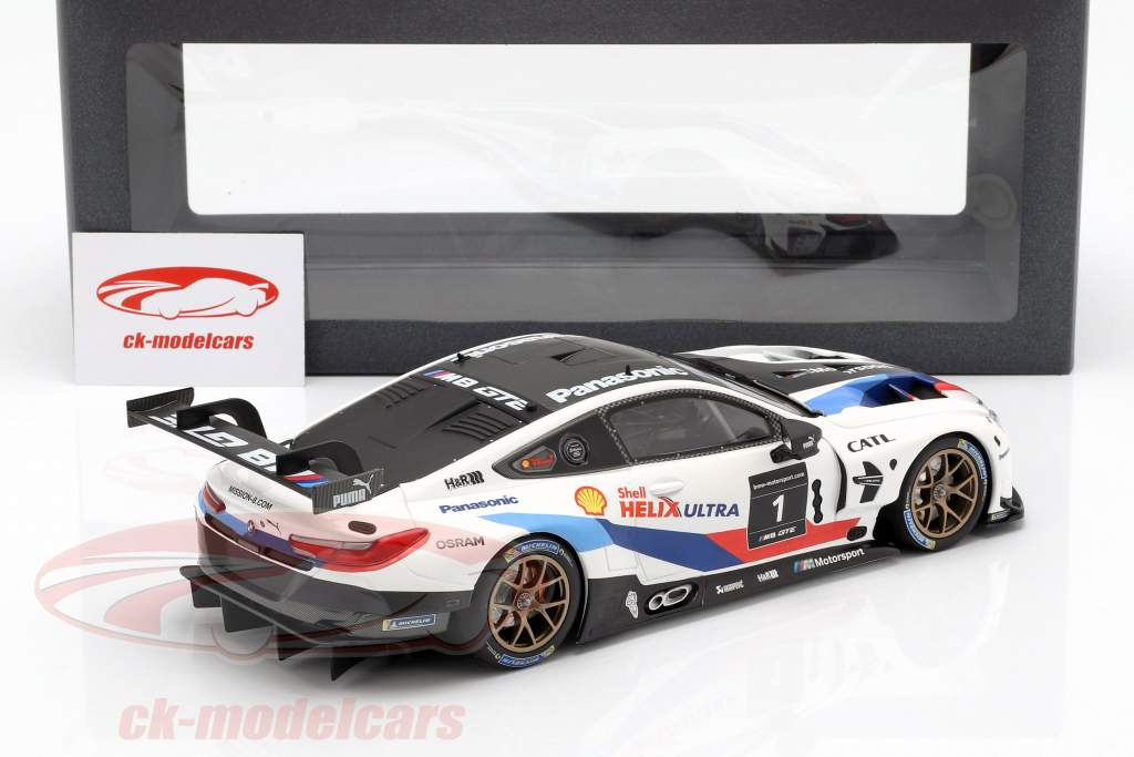 BMW M8 GTE #1 Presentation Car 2018 1:18 Minichamps