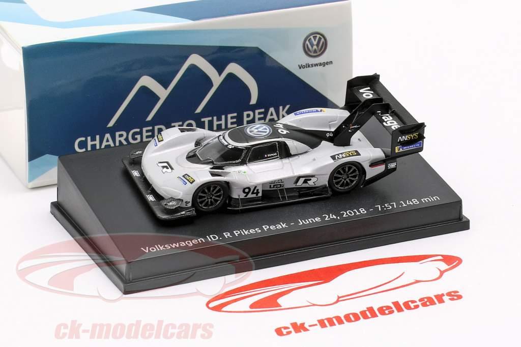 Volkswagen ID.R #94 Pikes Peak registro Junho 24th, 2018 7:57.148 min Romain Dumas 1:87 Spark