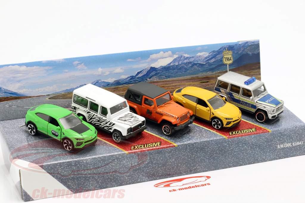 5-Car Set SUV pack cadeau 1:64 Majorette