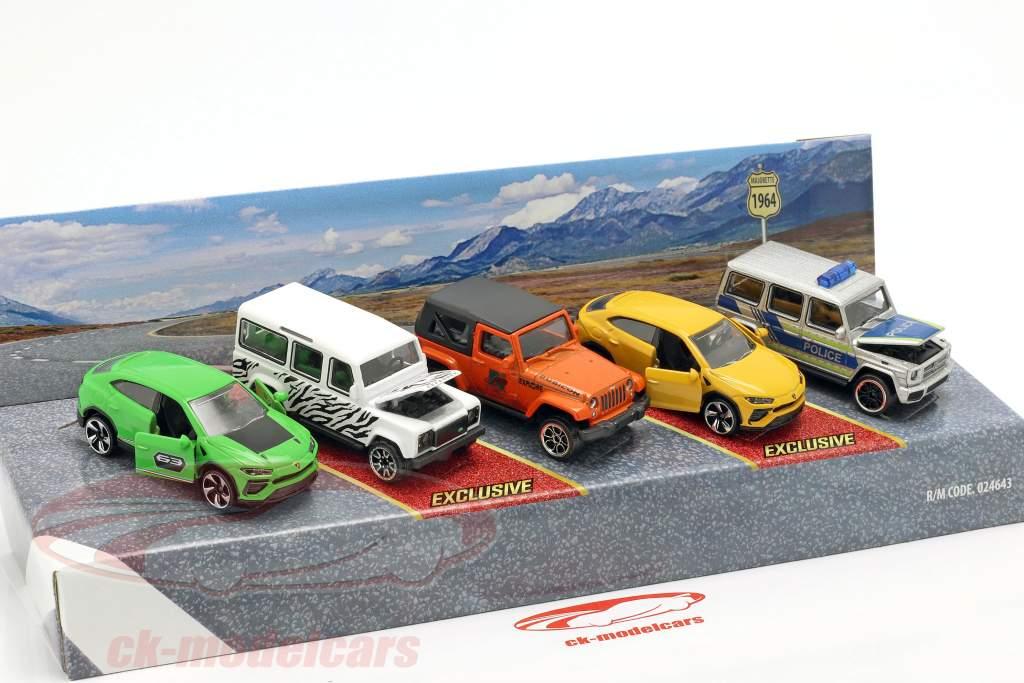 5-Car Set SUV confezione regalo 1:64 Majorette