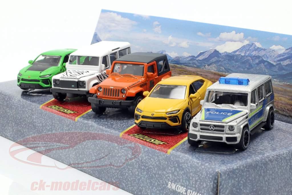 5-Car Set SUV gave pack 1:64 Majorette
