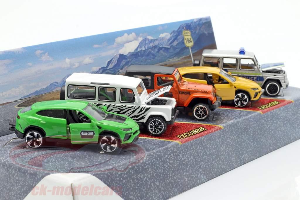 5-Car Set SUV paquete de regalo 1:64 Majorette