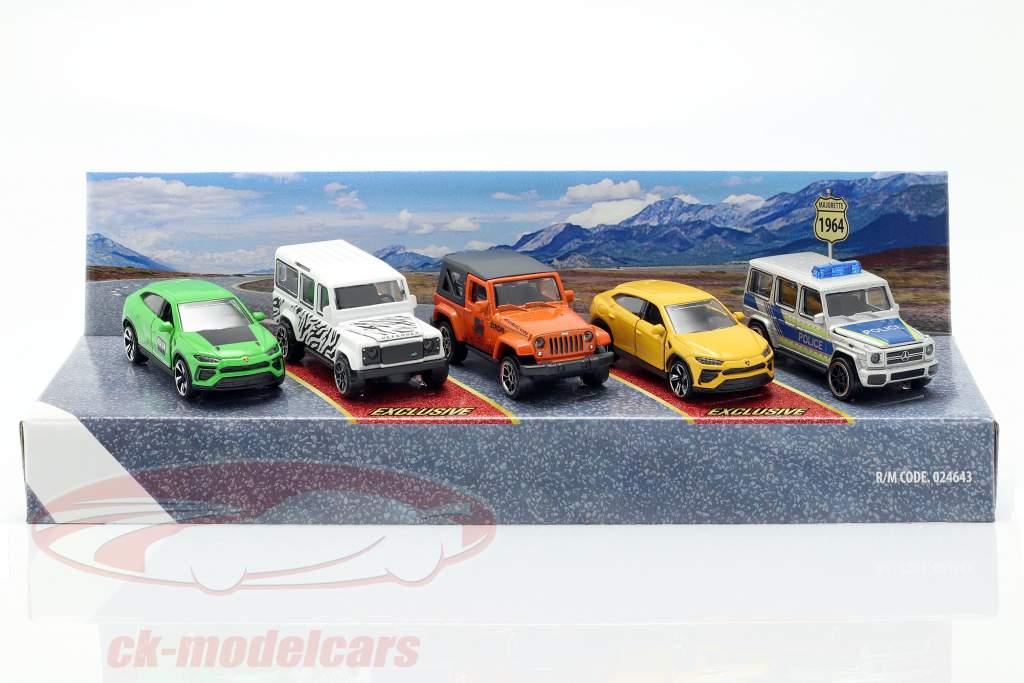 5-Car Set SUV pacote de presente 1:64 Majorette