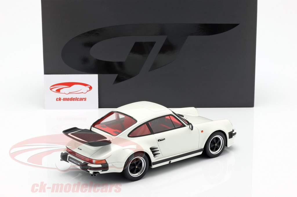 Porsche 911 (930) Turbo S Grand Prix branco 1:18 GT-Spirit