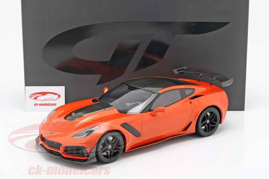 Chevrolet Corvette ZR1 Baujahr 2019 Sebring orange 1:12 GT-Spirit