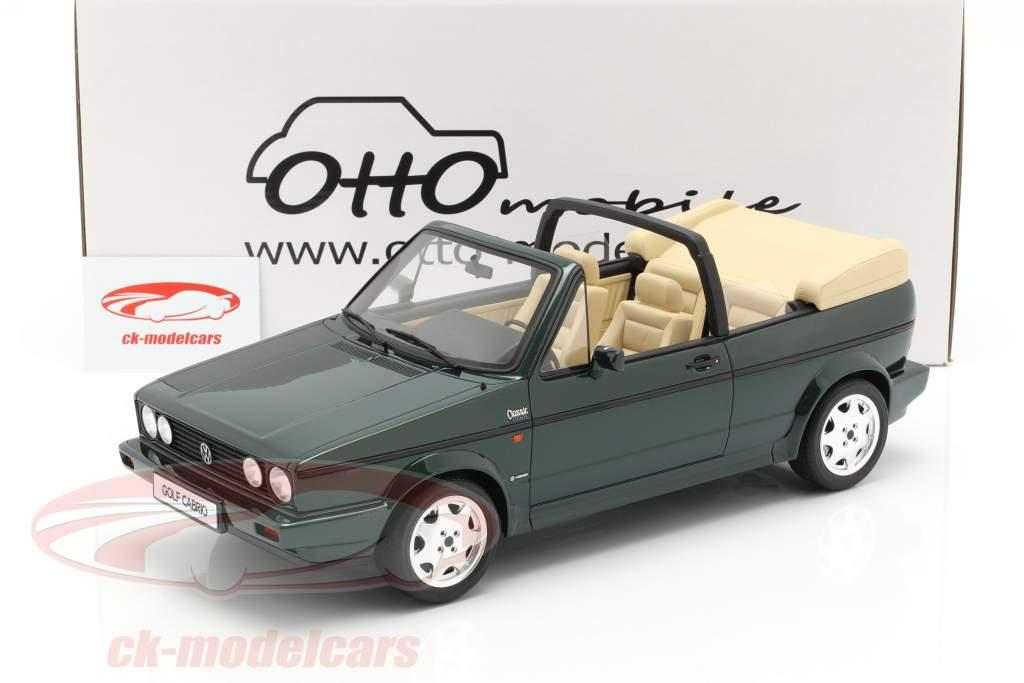 Volkswagen VW Golf Mk1 cabriolet Classic Line 1992 verde 1:12 OttOmobile
