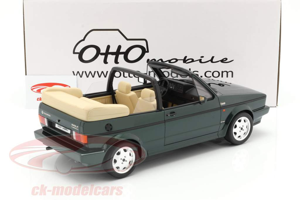 Volkswagen VW Golf Mk1 Cabriolet Classic Line 1992 groen 1:12 OttOmobile