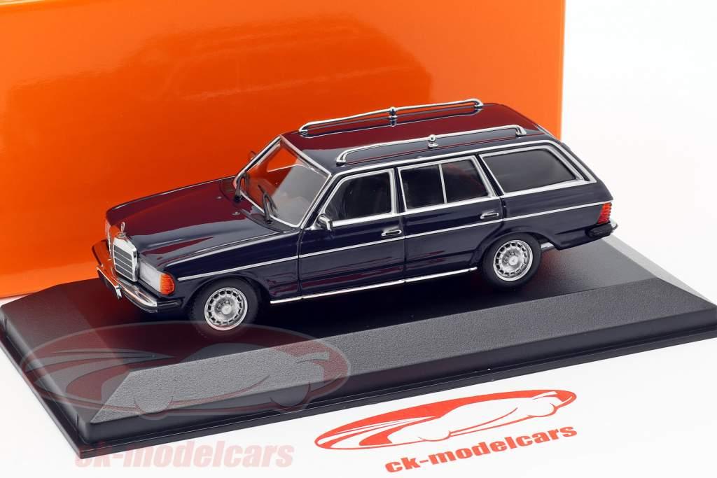 Mercedes-Benz 230 TE (W123) Opførselsår 1982 blå 1:43 Minichamps