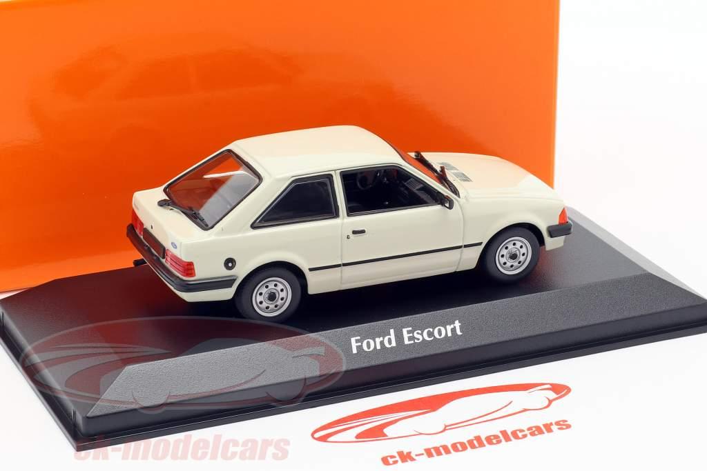 Ford Escort année de construction 1981 gris clair 1:43 Minichamps