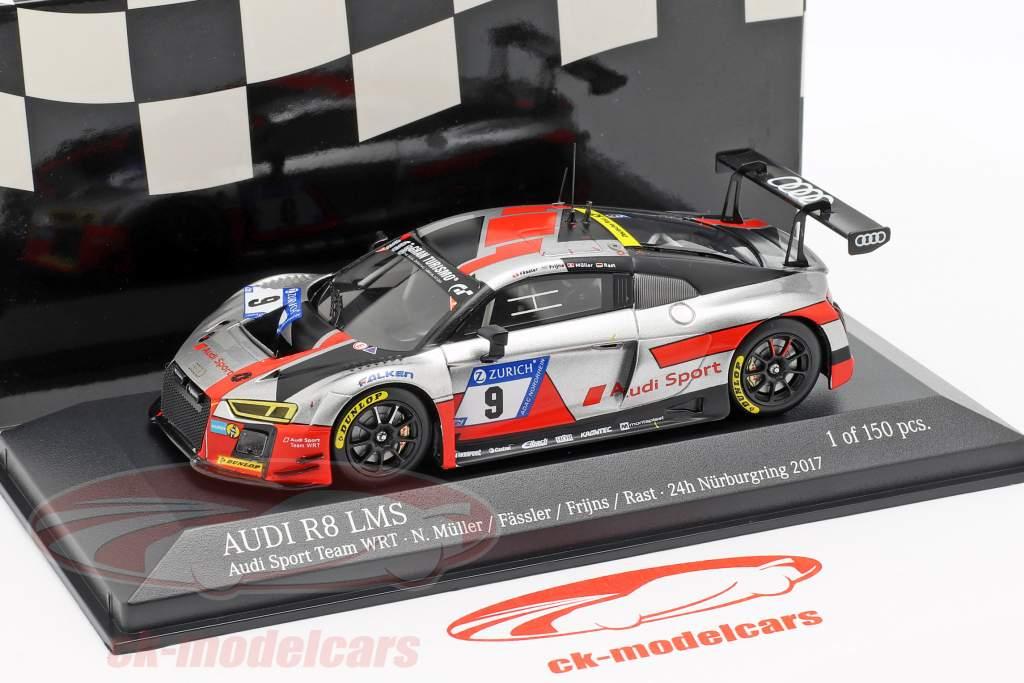 Audi R8 LMS #9 tercero 24h Nürburgring 2017 Müller, Fässler, Frijns, Rast 1:43 Minichamps