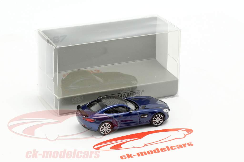 Mercedes-Benz AMG GTS year 2015 dark blue metallic 1:87 Minichamps