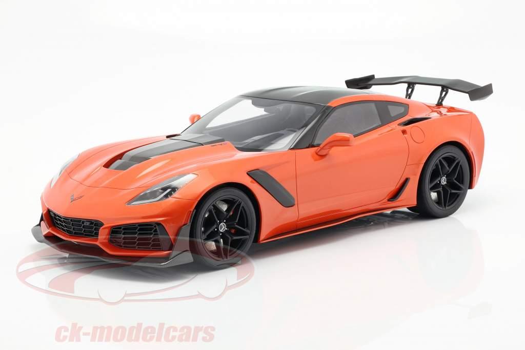 Chevrolet Corvette ZR1 año de construcción 2019 Sebring naranja 1:12 GT-Spirit