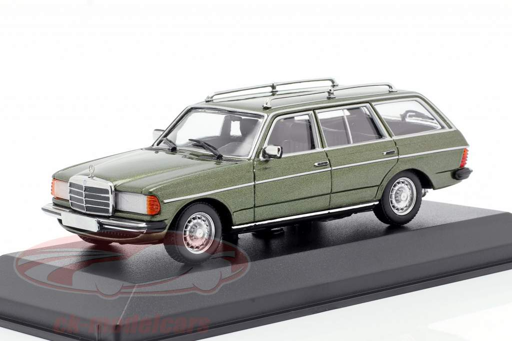 Mercedes-Benz 230 TE (W123) year 1982 green metallic 1:43 Minichamps
