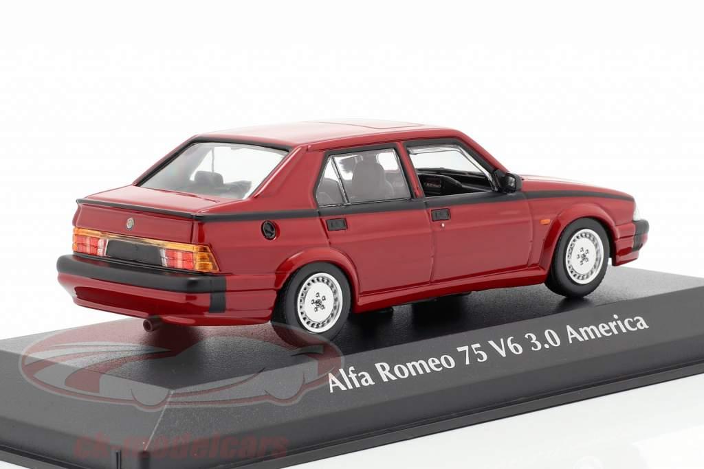 Alfa Romeo 75 V6 3.0 America year 1987 red 1:43 Minichamps