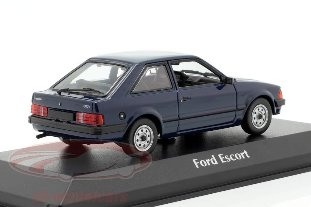 Ford Escort year 1981 dark blue 1:43 Minichamps
