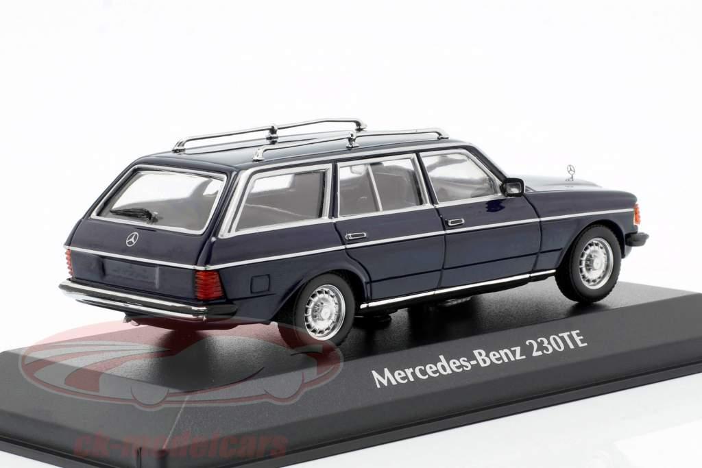 Mercedes-Benz 230 TE (W123) año de construcción 1982 azul 1:43 Minichamps