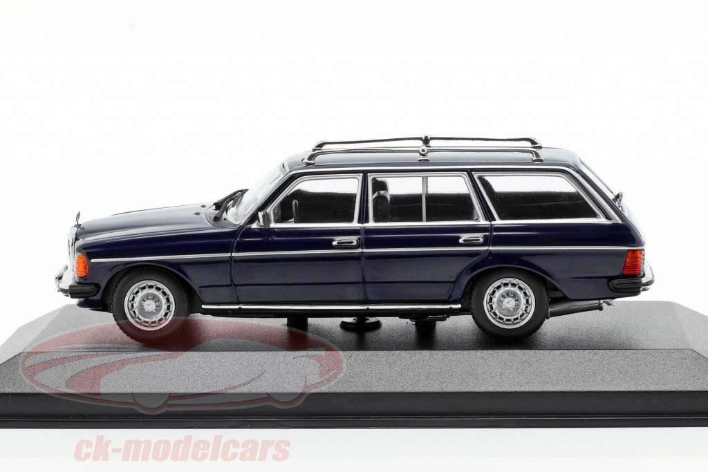 Mercedes-Benz 230 TE (W123) année de construction 1982 bleu 1:43 Minichamps