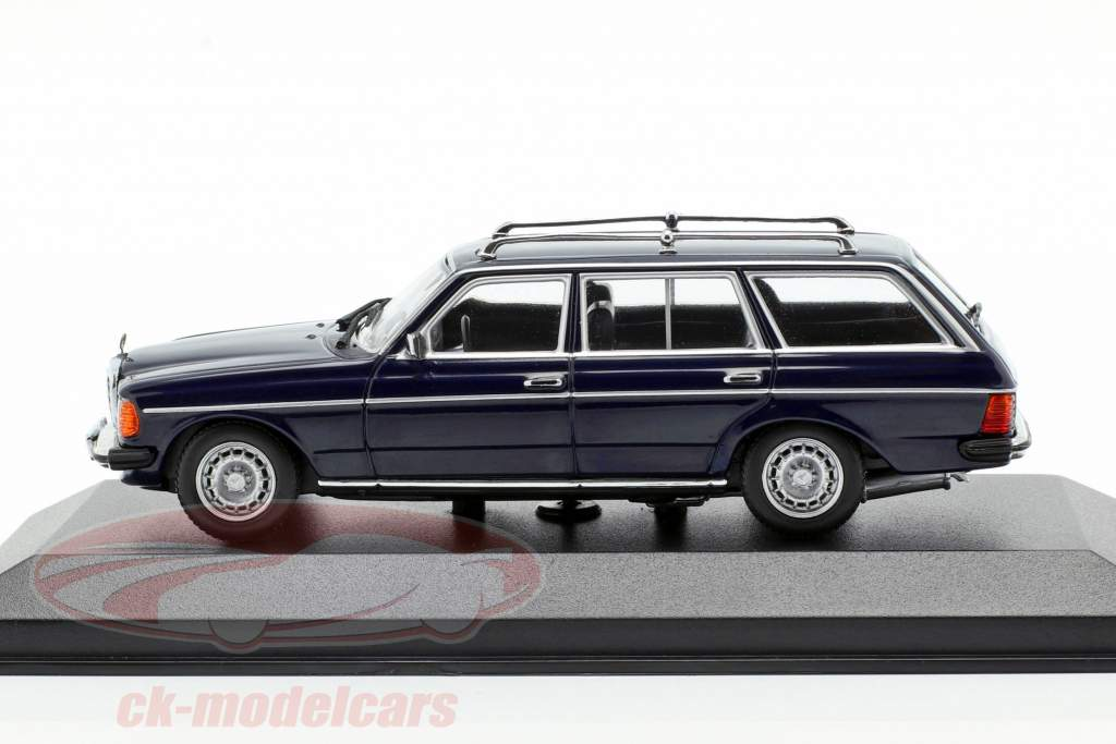 Mercedes-Benz 230 TE (W123) ano de construção 1982 azul 1:43 Minichamps
