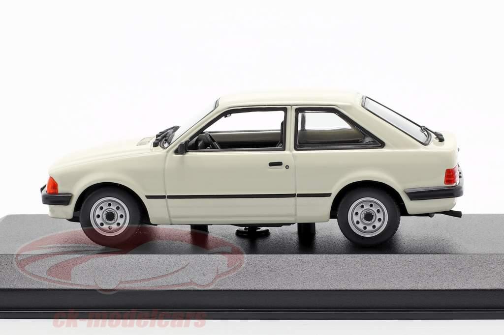 Ford Escort ano de construção 1981 cinza claro 1:43 Minichamps