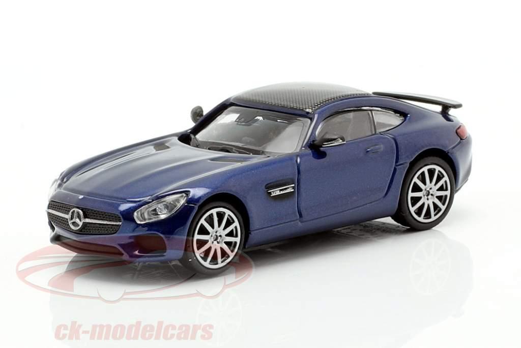 Mercedes-Benz AMG GTS année de construction 2015 bleu foncé métallique 1:87 Minichamps