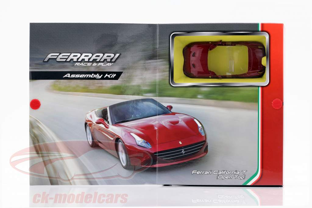 Ferrari California T Open Top escuro vermelho montagem estojo 1:32 Bburago