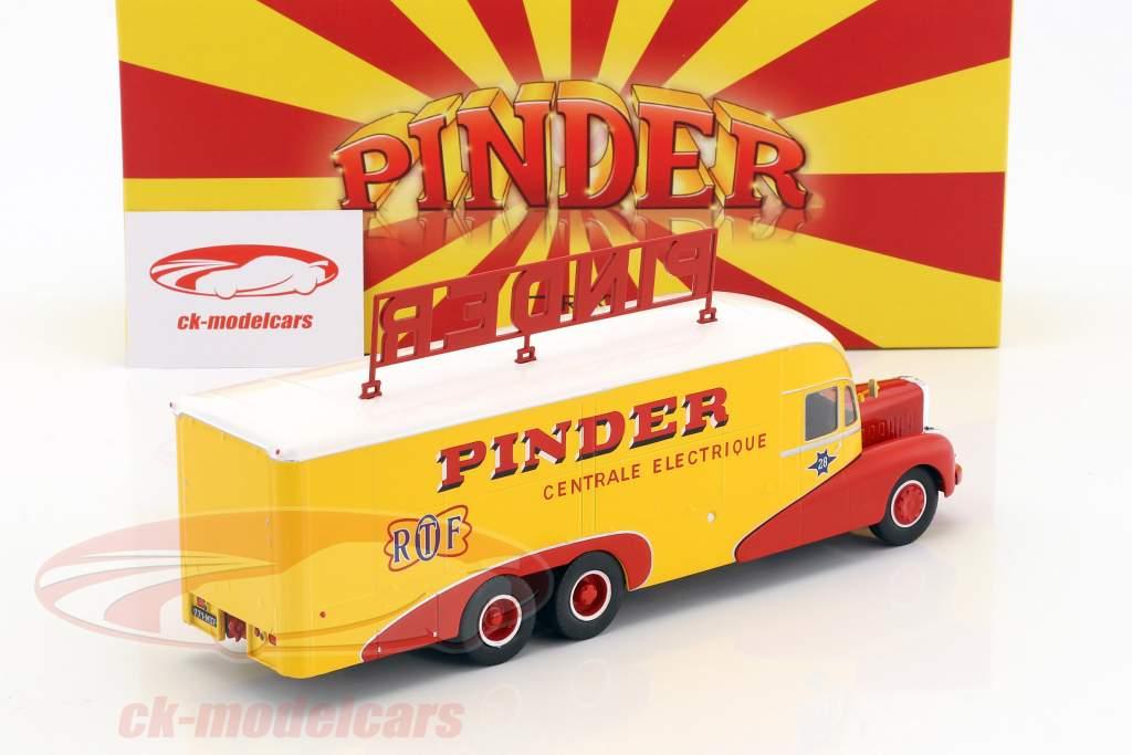 Bernard 28 Electrical Truck Pinder circus year 1951 yellow / red 1:43 Direkt Collections