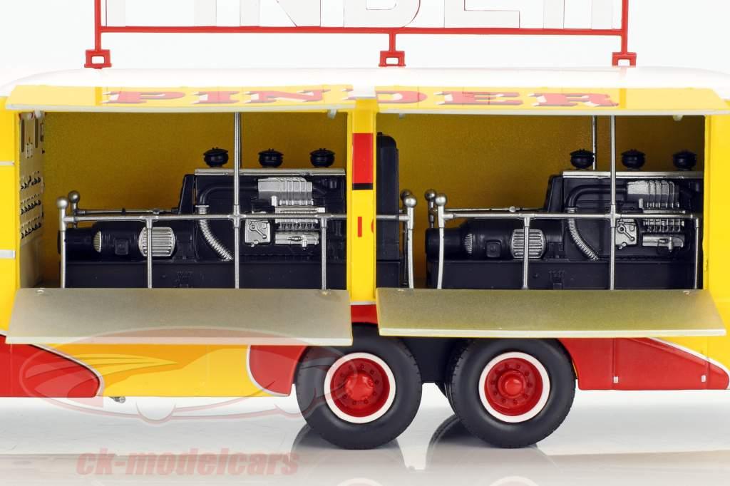 Bernard 28 électrique camion Pinder cirque année de construction 1951 jaune / rouge 1:43 Direkt Collections