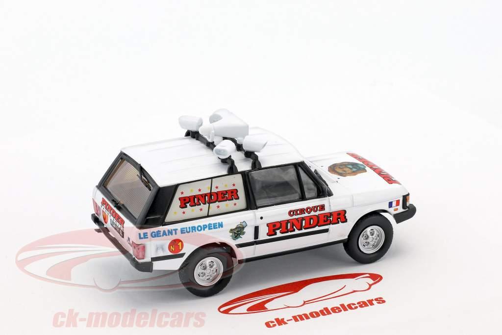 Land Rover Range Rover Reklame køretøj Pinder cirkus hvid 1:43 Direkt Collections